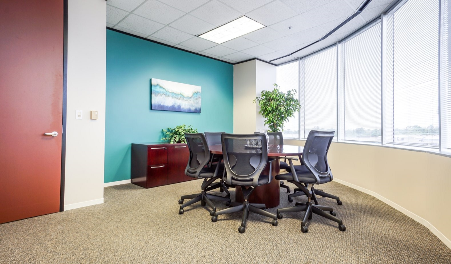 North Houston Executive Office Suites - Large Corner Office with Window