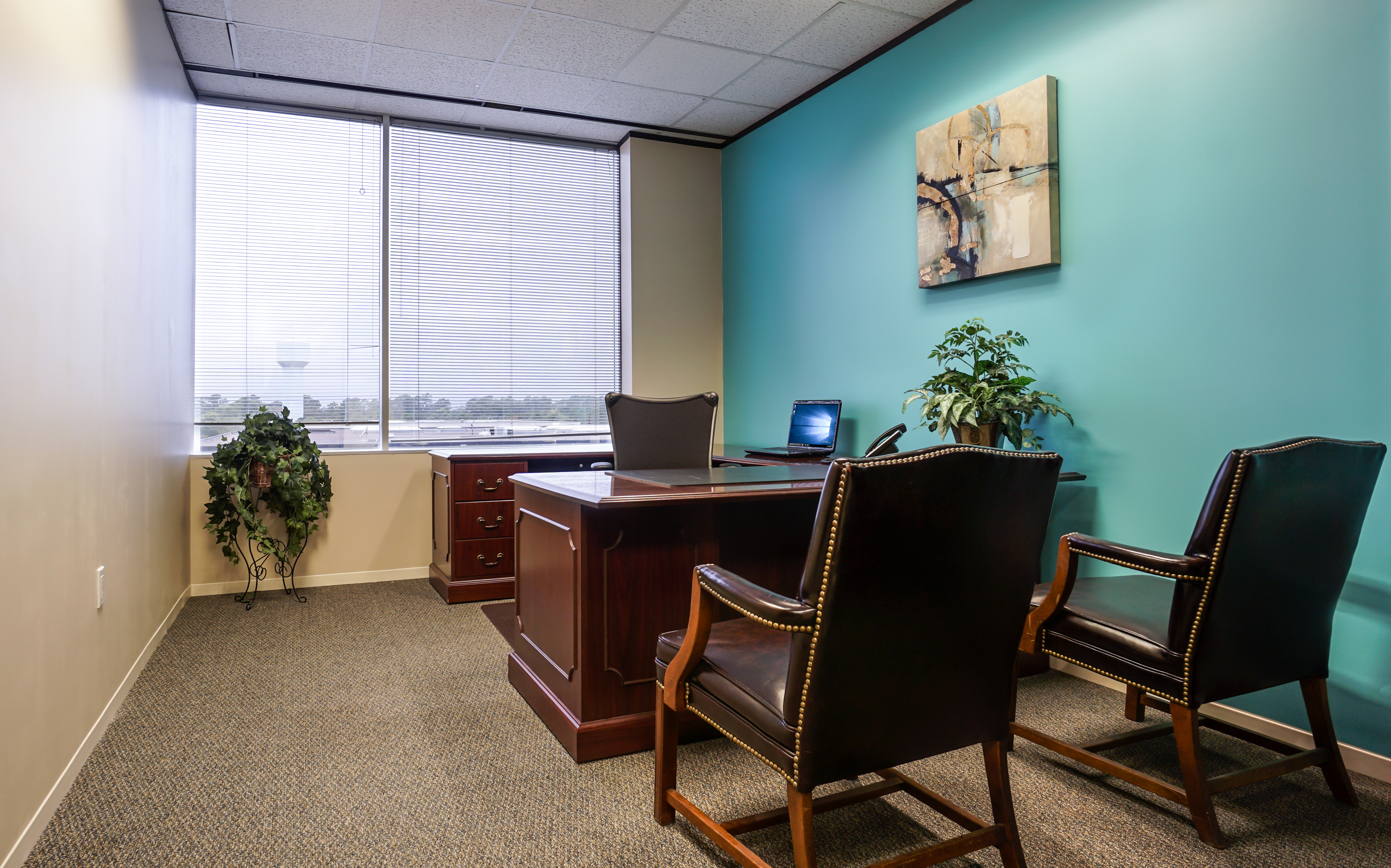 North Houston Executive Suites Private Office with Window